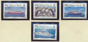 Falkland Islands Stamps Scott #584 To 587, Mint Never Hinged - Free U.S. Ship...