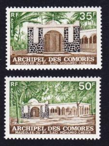 Comoro Is. Mausoleum of Shaikh Said Mohamed 2v SG#150-151 SC#116-117