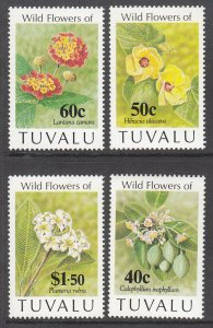 Tuvalu 625-628 Flowers MNH VF