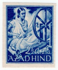 (I.B) India Cinderella : Azad Hind 2½a + 2½a (proof)