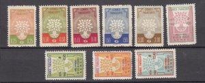 J27647 1960 paraguay set mnh #560-4,c262-4 WRY emblem