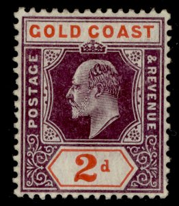 GOLD COAST SG51a, 2d dull purple and orange-red, M MINT. Cat £35. CHALKY