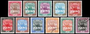 British Sudan Scott 17-27 (1902-21) Mint/Used H F-VF Complete Set, CV $102.35 B