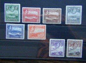 Antigua 1938 - 1951 values to 1s MM