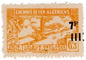 (I.B) France Colonial Railway : Algeria Chemins de Fer 7F on 6.3F