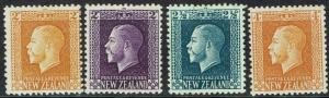NEW ZEALAND 1915 KGV 2D 2 COLOURS 21/2D AND 4D PERF 14 X 13.5