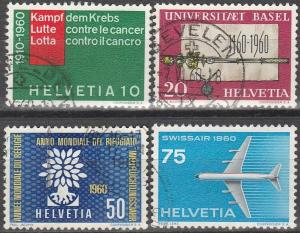 Switzerland #378-81 F-VF Used CV $5.75 (D1825)