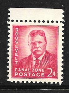 Canal Zone 138: 2c T. Roosevelt, dry gum, MNH, F-VF
