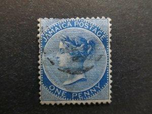 A4P21F18 Jamaica 1870-83 Wmk Crown CC 1d used