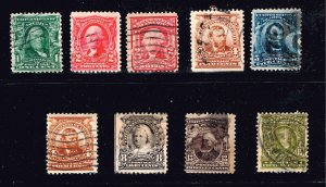 USA STAMP #309 15C  + Series of 1903 Used stamps lot