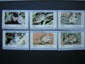 AUSTRALIA 1992 THREATENED SPECIES COUNTER PRINTED STAMPS PHILAKOREA MUH