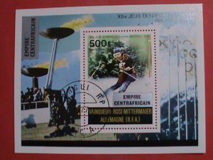 EMPIRE CENTRAFRICAIN STAMPS: 1977 SC#C178 -12TH WINTER OLYMPIC GAMES  CTO-MNH.