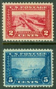 EDW1949SELL : USA 1913 Scott #398-99 Very Fine, Mint Original Gum Hinged Cat $81