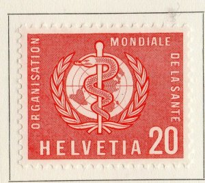 Switzerland Helvetia 1957 Early Issue Fine Mint Hinged 20c. NW-170855