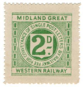 (I.B) Midland Great Western Railway (Ireland) : Letter Stamp 2d