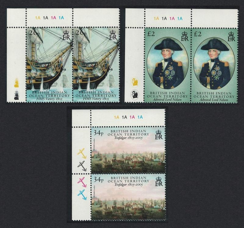 BIOT Battle of Trafalgar part 2 3v Top Left Pairs SG#344-346