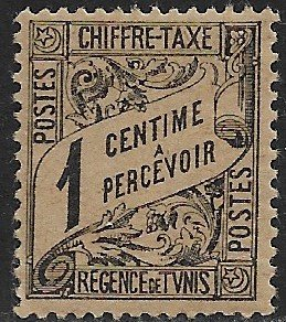 TUNISIA 1901-03 1c Black POSTAGE DUE Issue Sc J1 MLH