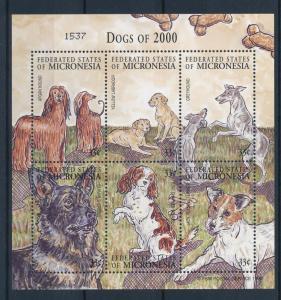 [34749] Micronesia 2000 Animals Dogs MNH Sheet