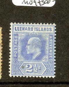 LEEWARD ISLANDS  (P1603B) KE 2 1/2D WIDE A SG40A  SCARCE  MOG