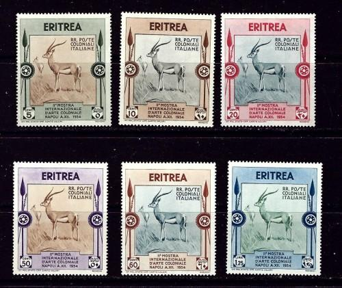 Eritrea 175-80 Hinged 1934 set