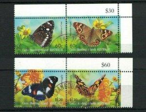 CK134) Cocos Keeling Islands 2012 Butterflies CTO/Used