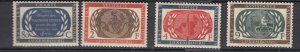 J25860  jlstamps 1955 luxembourg set mnh #306-9 un