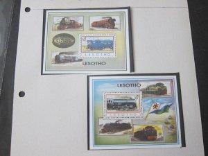 Lesotho 1993 Sc 977-8 Train set MNH
