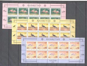 Kazakhstan 240-42 MNH m/s Birds SCV36