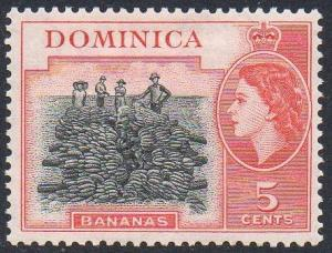 Dominica 1954 5c Bananas MH