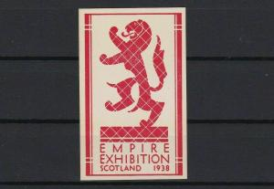 empire exhibition scotland 1938 mint never hinged stamp ref r13099