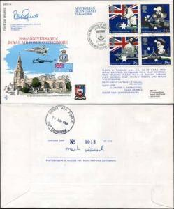 RFDC64b Australian Bicentenary Signed by Grp Capt. P.T. Squire (D)