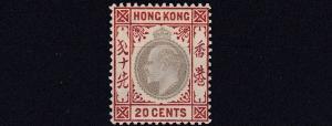 HONG KONG  1904 - 06    SG 83A  20C  SLATE & CHESTNUT   VLMH    CAT £65
