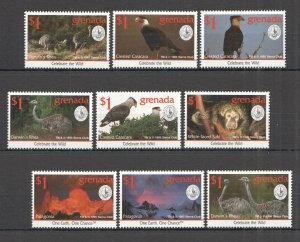 A0616 1995 GRENADA FAUNA WILD ANIMALS BIRDS CELEBRATE THE WILD SET MNH