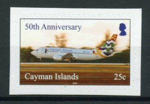 Cayman Islands Aviation Stamps 2019 MNH Cayman Airways 50th Anniv R/P 1v S/A Set