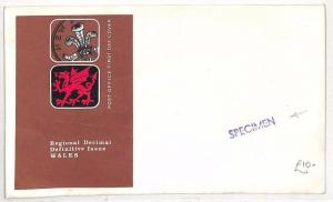AO158 GB Wales Regional Issues FDC Cover Specimen {samwells-covers}