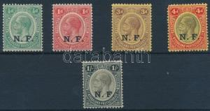 Tanganyika stamp Definitive set 1916 Hinged Mi 33-37 WS212365