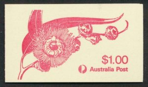 AUSTRALIA 852a MINT NH, BOOKLET FLOWER COVER & STAMPS