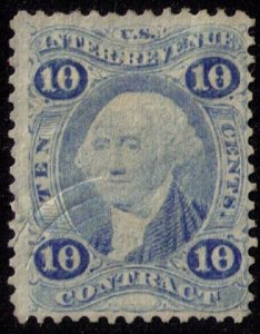 US Sc R34be Ultramarine Used Pressed Cancel F-VF Cat $650.00
