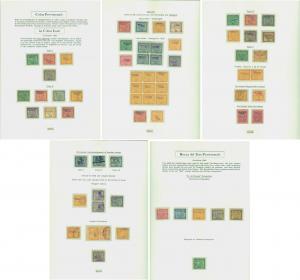PANAMA 1903/4 COLON Provisionals study inc. BOCAS del TORO - var. cxls, etc. */O