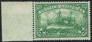GERMAN EAST AFRICA 1905 YACHT 2R WMK LOZENGES