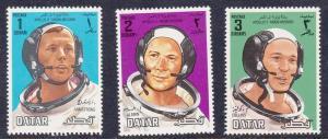 Qatar 190-192 Mint OG 1969 Astronaut