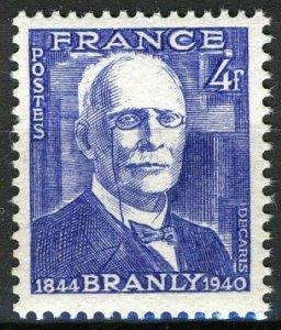France 1944, 4 Fr Edouard Branly (1844-1940), physicist VF MNH, Mi 613