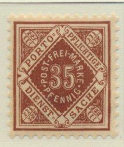 Wurttemberg Stamp Scott #O25, Mint Never Hinged - Free U.S. Shipping, Free Wo...