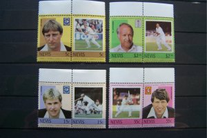 Nevis 1984 MNH Leaders of the World - Cricketers
