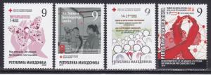Red Cross Macedonia 2017 Complete Year Red Cross Tuberculosis Cancer Aids Medicine Mnh