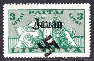LITHUANIA 287 WW2 JANAU OVERPRINT OG H M/M VF BEAUTIFUL GUM