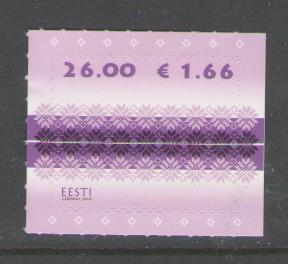Estonia Sc 650 2010 26k Fabric stamp mint NH