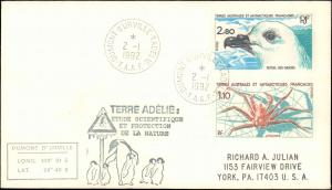French Southern & Antarctic Territory #217, Antarctic Cachet and/or Cancel