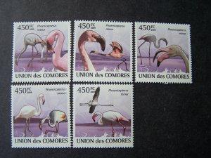 Comores Comoro 2009 MNH Birds Flamingos