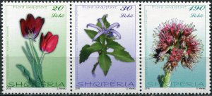 Albania 2016. Native flora (MNH OG) Block of 3 stamps